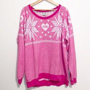 Victoria's Secret Pink Sweatshirt Large Oversized